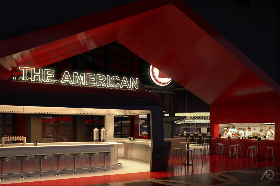 The American - The Diner Entry