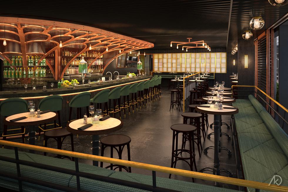Le District Absinthe Bar - Main Bar Room