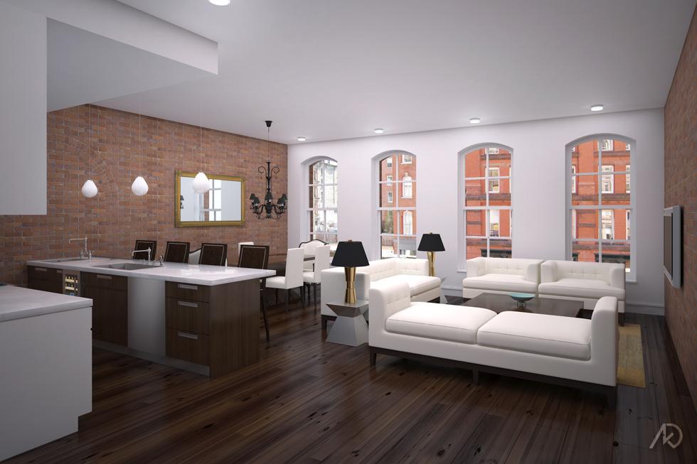 Duane Street Apts. - TYP Living Room